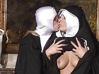 Girl-on-girl Nuns Gobble Each Other